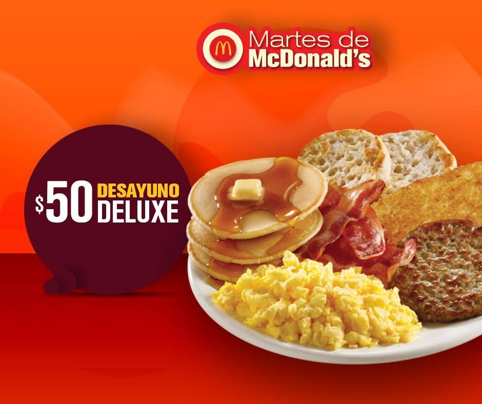 McDonald's: Desayuno Deluxe por 50