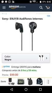 Amazon: Sony Audífonos E9LP/B
