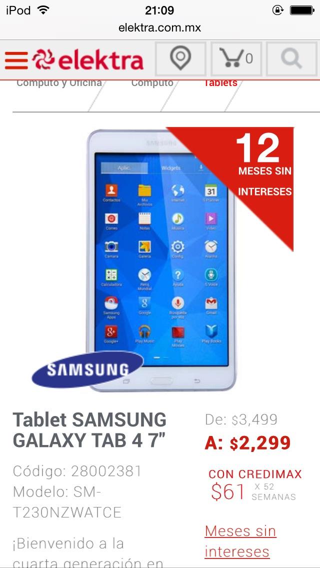 "Elektra: Tablet Galaxy Tab 4 7"""