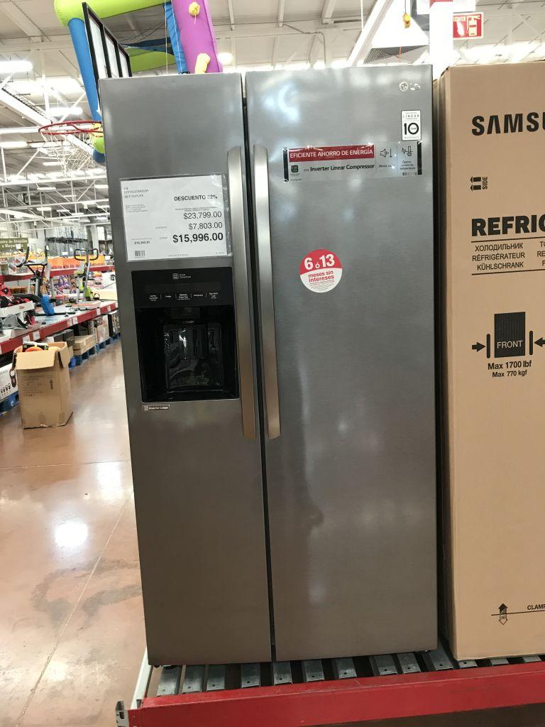 City club: Refrigerador LG 26 pies duplex inverter