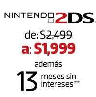Liverpool: Nintendo 2DS $1,999 y 13 meses sin intereses