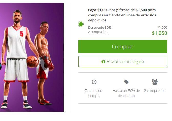 Groupon: Netshoes Gift Card de $1500 en $1050
