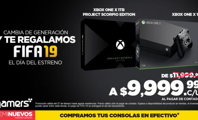 Gamers: Xbox One X/Project Scorpio 1 TB Incluye Juego