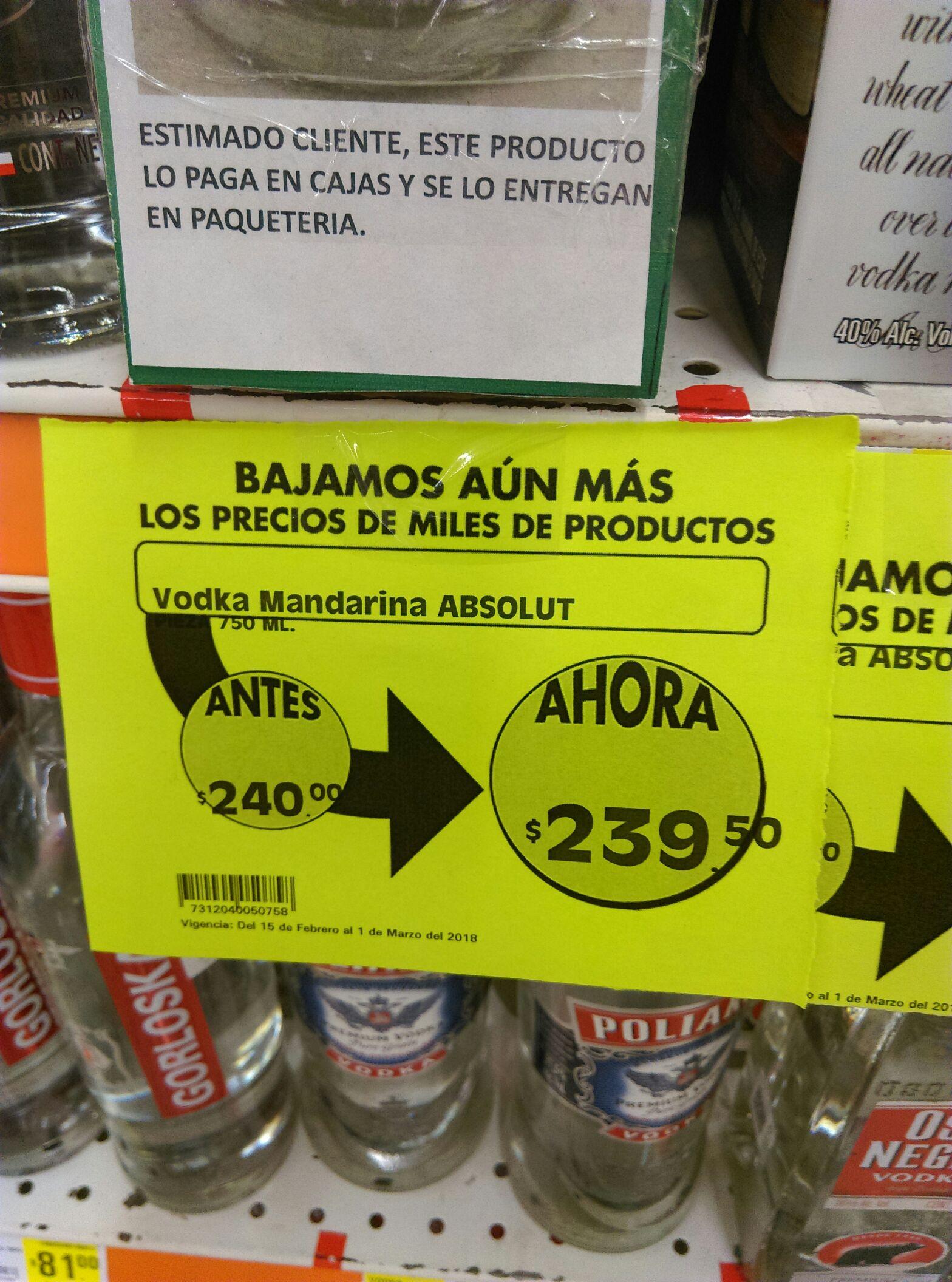 Comercial mexicana leon: Vodka Mandarina