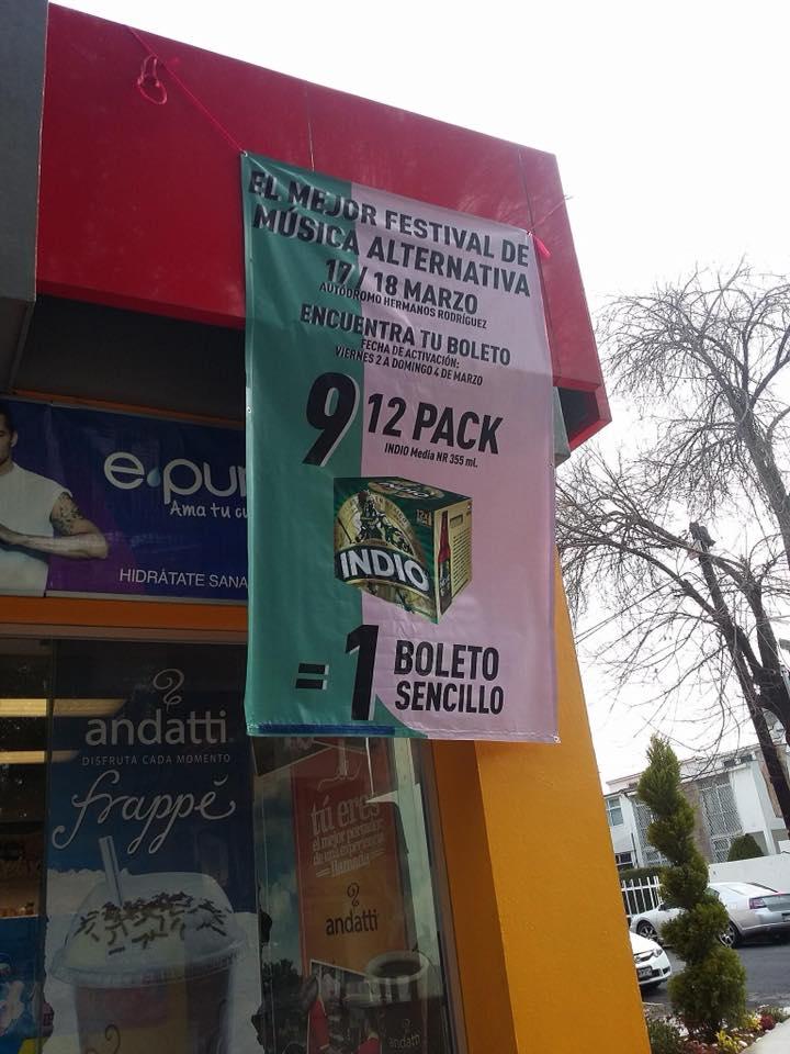 OXXO Toluca: Boleto gratis Vive Latino en la compra de 9 12 pack Indio