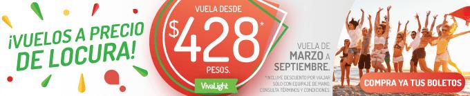 Viva Aerobus: Vuelos desde $428 y más...