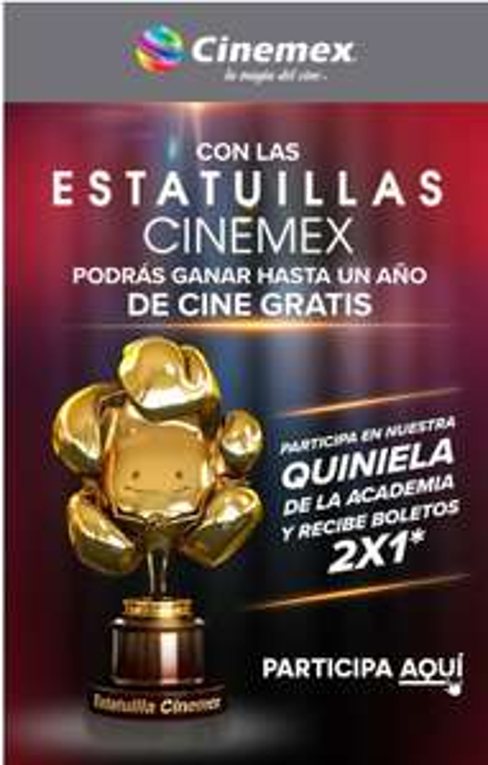 2x1 en Cinemex! Promoción para cinéfilos!