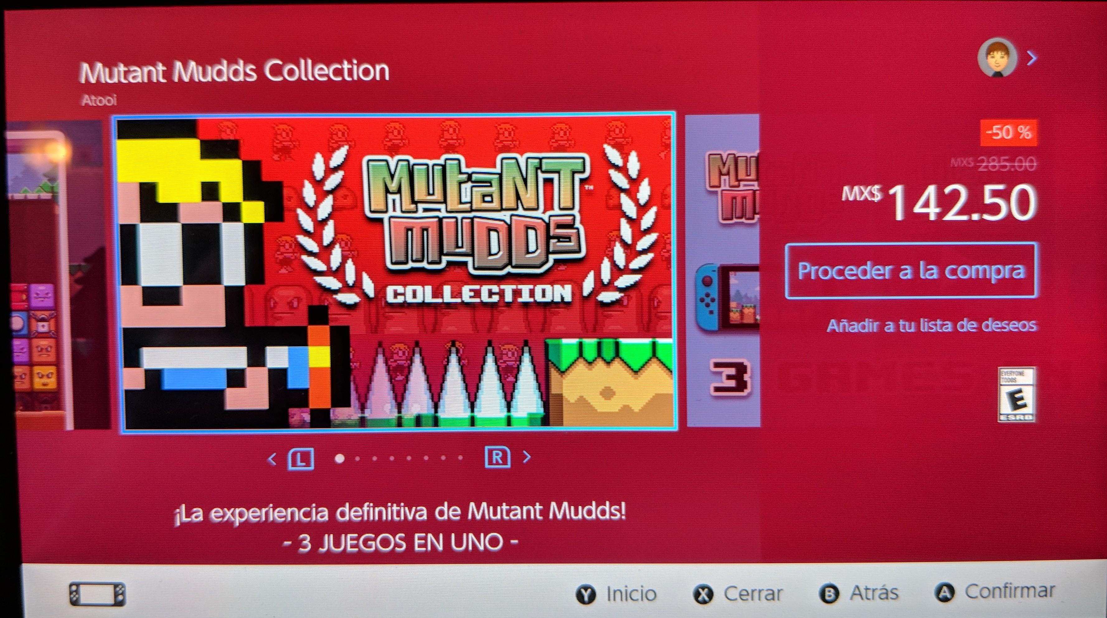 Nintendo eShop:Mutant Mudds Collection al 50% de descuento