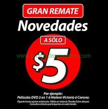 Gran remate tiendas Extra: DVDs y hieleras a $5
