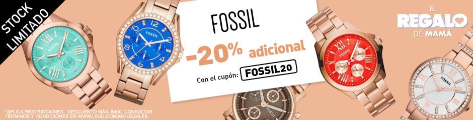 Linio: 20% de descuento adicional en relojes FOSSIL.