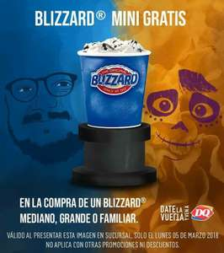 Dairy Queen: Gratis Blizzard mini en la compra de otro