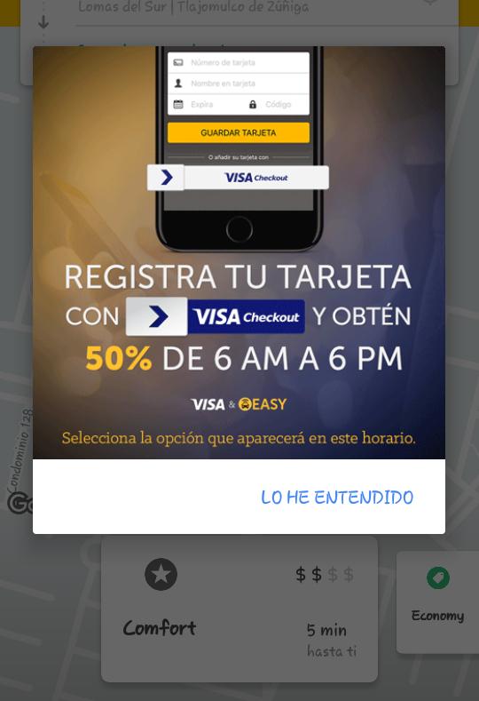 Easy Taxi:50% de descuento en viajes con Visa Checkout