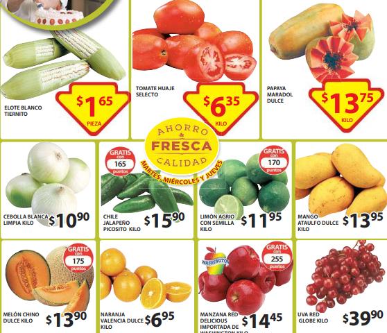 Ofertas de frutas y verduras en Soriana 21 de abril