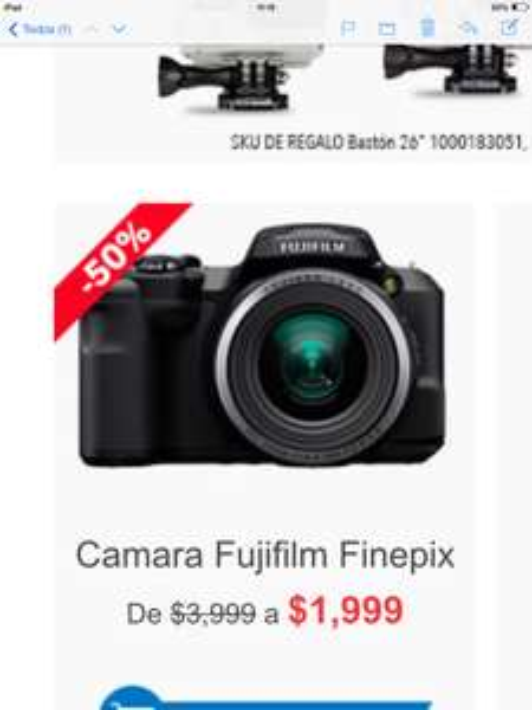 Cyber Martes Best Buy: Cámara Fujifilm Finepix S8600 $1,999