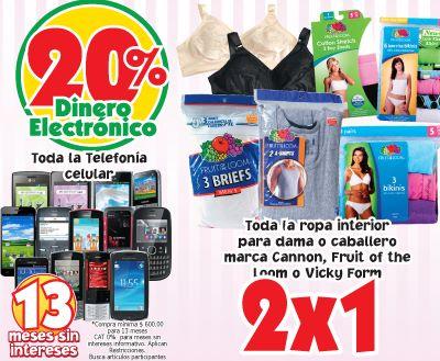 Mercado Soriana: 2x1 en ropa interior marcas seleccionadas y bonificación en celulares
