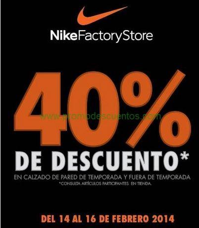 Nike Factory Store: 40% de descuento en calzado