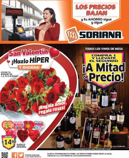 Folleto de ofertas en Soriana del 14 al 20 de febrero