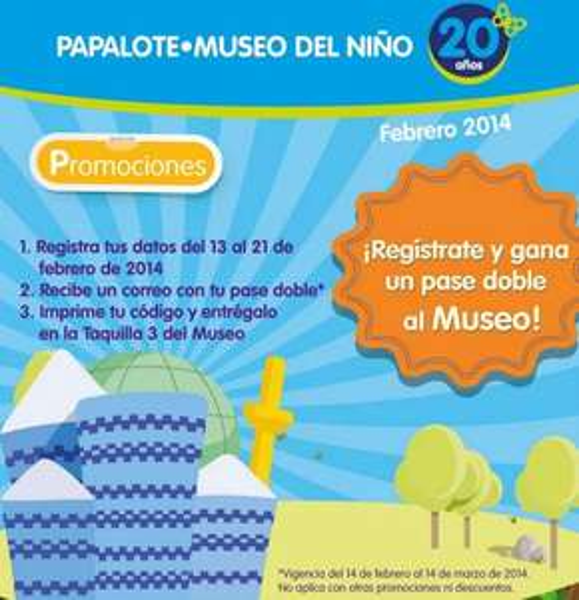 Papalote Museo del Niño: pase doble gratis registrándote en su página web