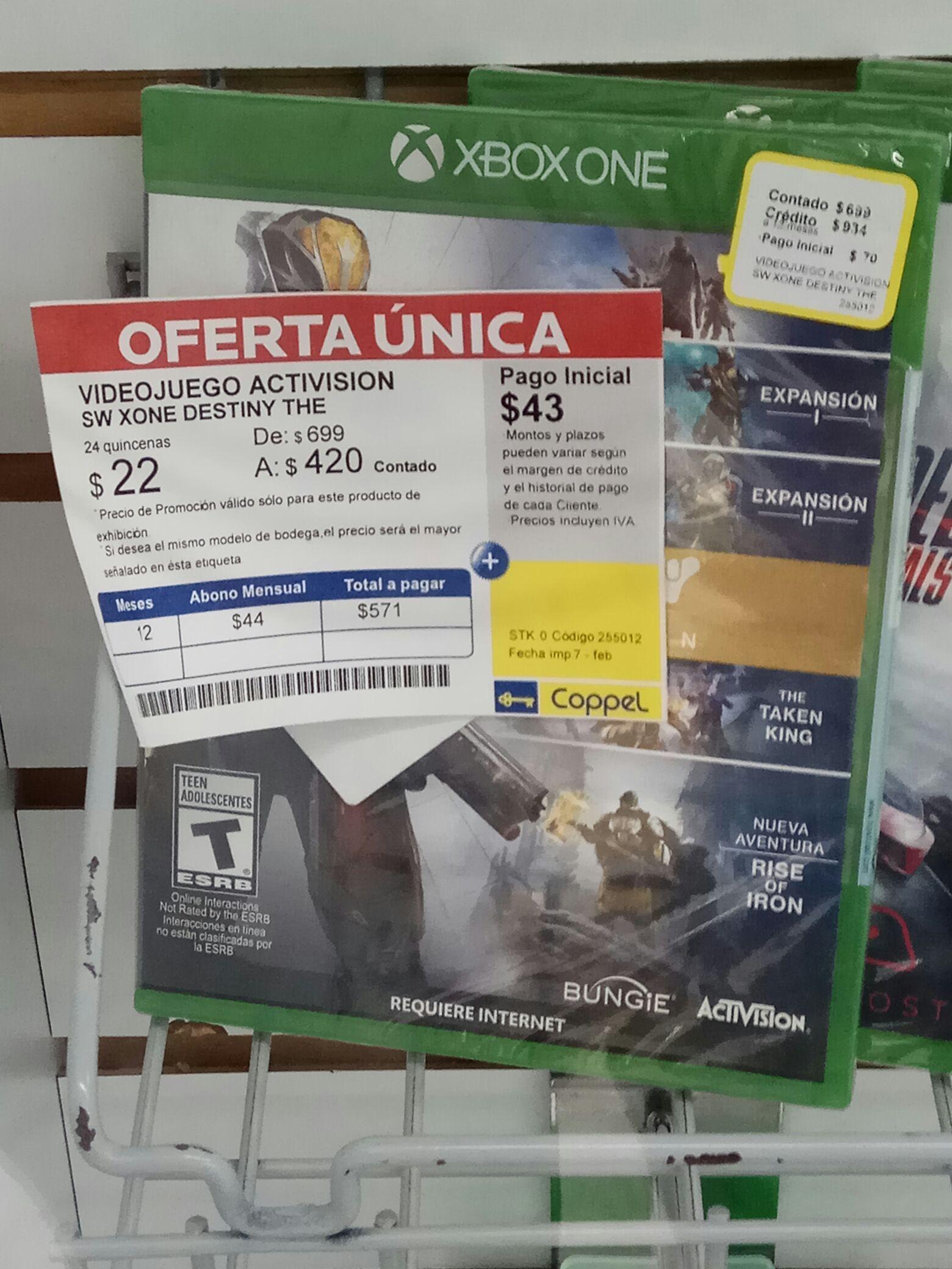 Coppel: Xbox One Destiny