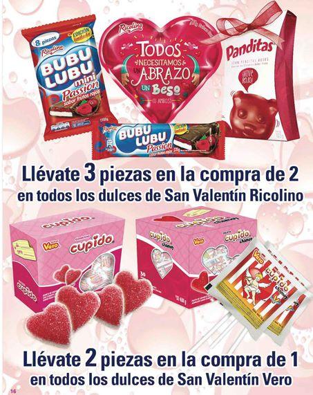 Comercial Mexicana: 3x2 y 2x1 en dulces de San Valentín