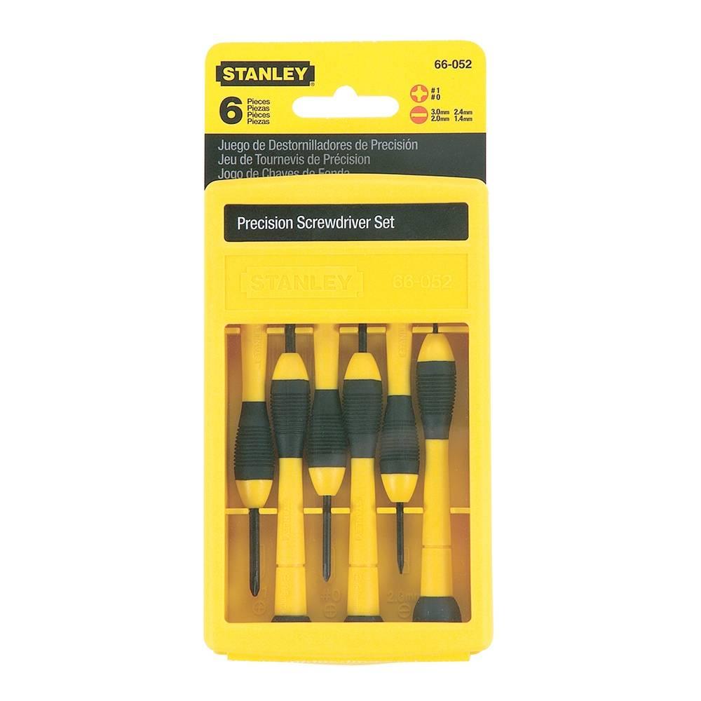 Walmart: Desarmadores de precisión Stanley (6 piezas) a $49 y Envío Gratis