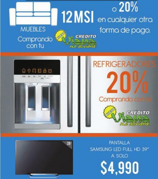 "Viana: pantalla LED Samsung de 39"" $4,999"