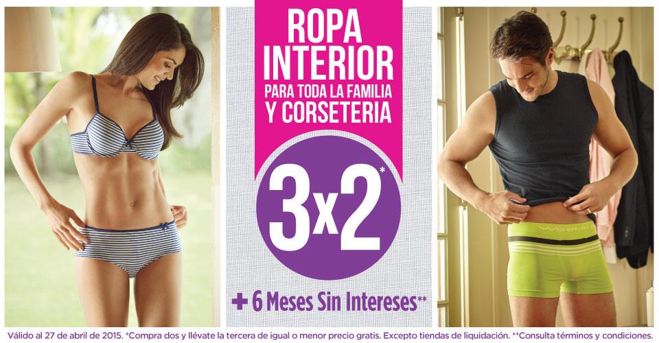 Suburbia: 3x2 en ropa interior y corsetería