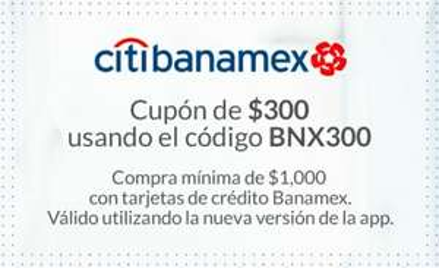 MercadoLibre: $300 de Desc. en compras de $1000 o más pagando con Banamex