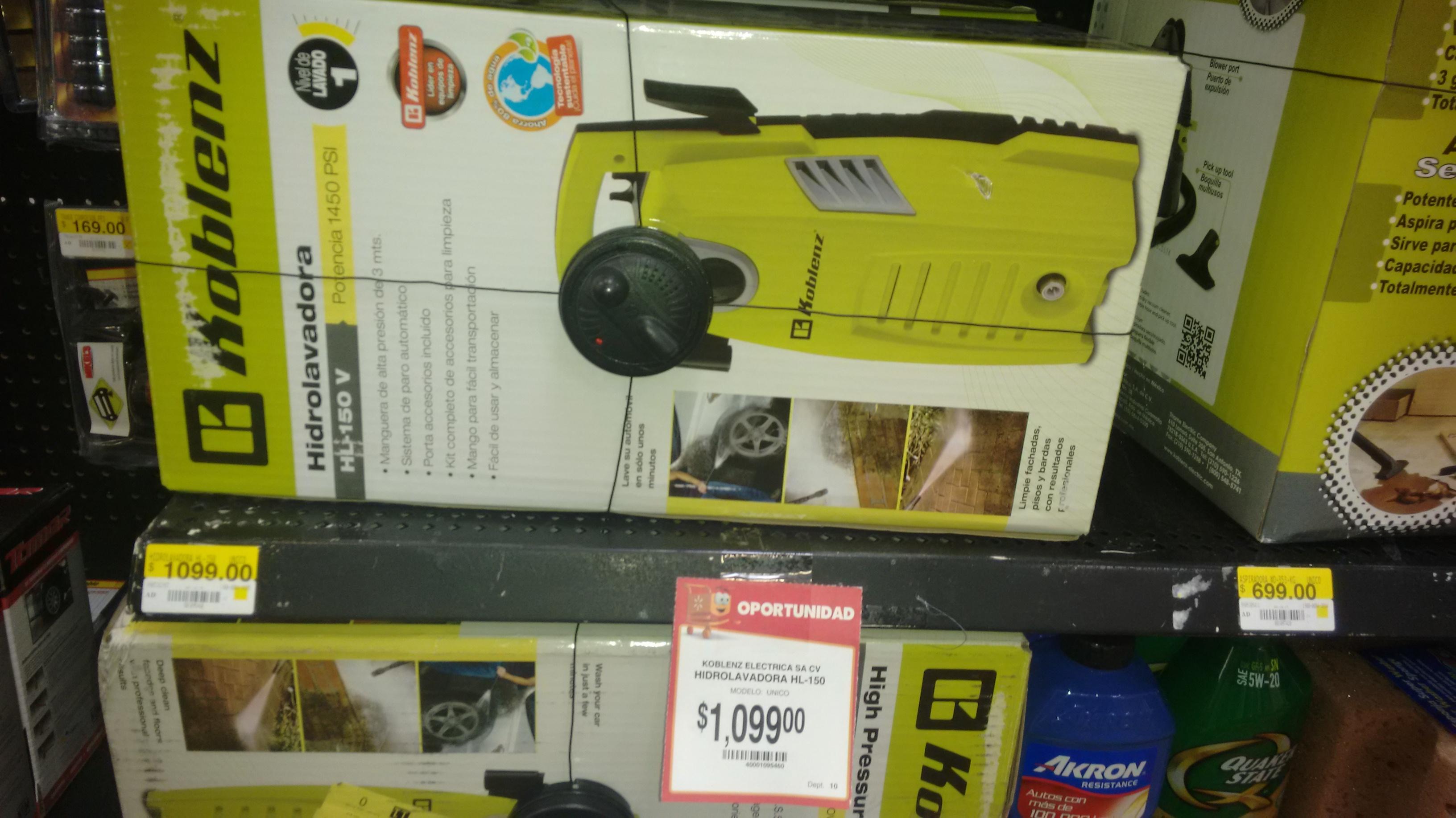 Walmart: hidrolavadora koblenz $1,099
