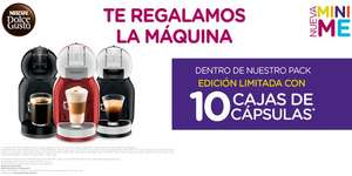 Dolce Gusto: cafetera Mini Me gratis comprando 10 cajas de cápsulas (actualizado)