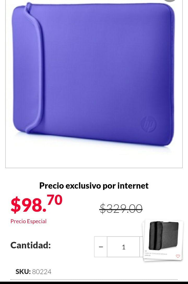 "Office Depot: Funda para laptop HP Chroma Morada 14""  Reversible."