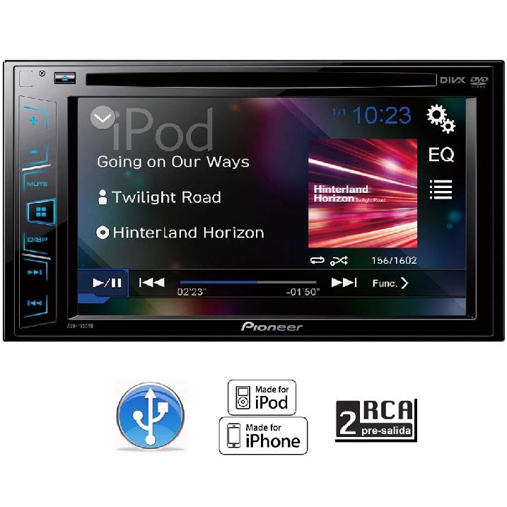 Famsa: Autoestéreo Pantalla Pioneer 6.2 Avh-195dvd Dvd Usb Iphone