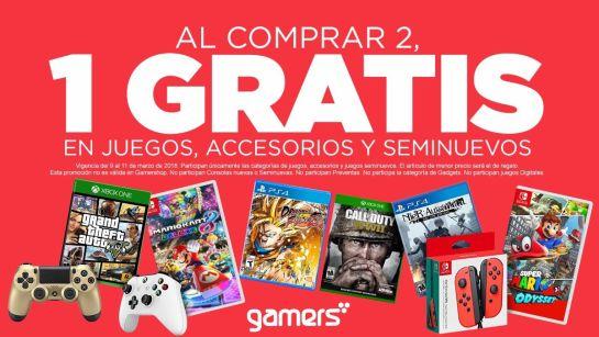 GAMERS: 3X2 en juegos y accesorios seminuevos