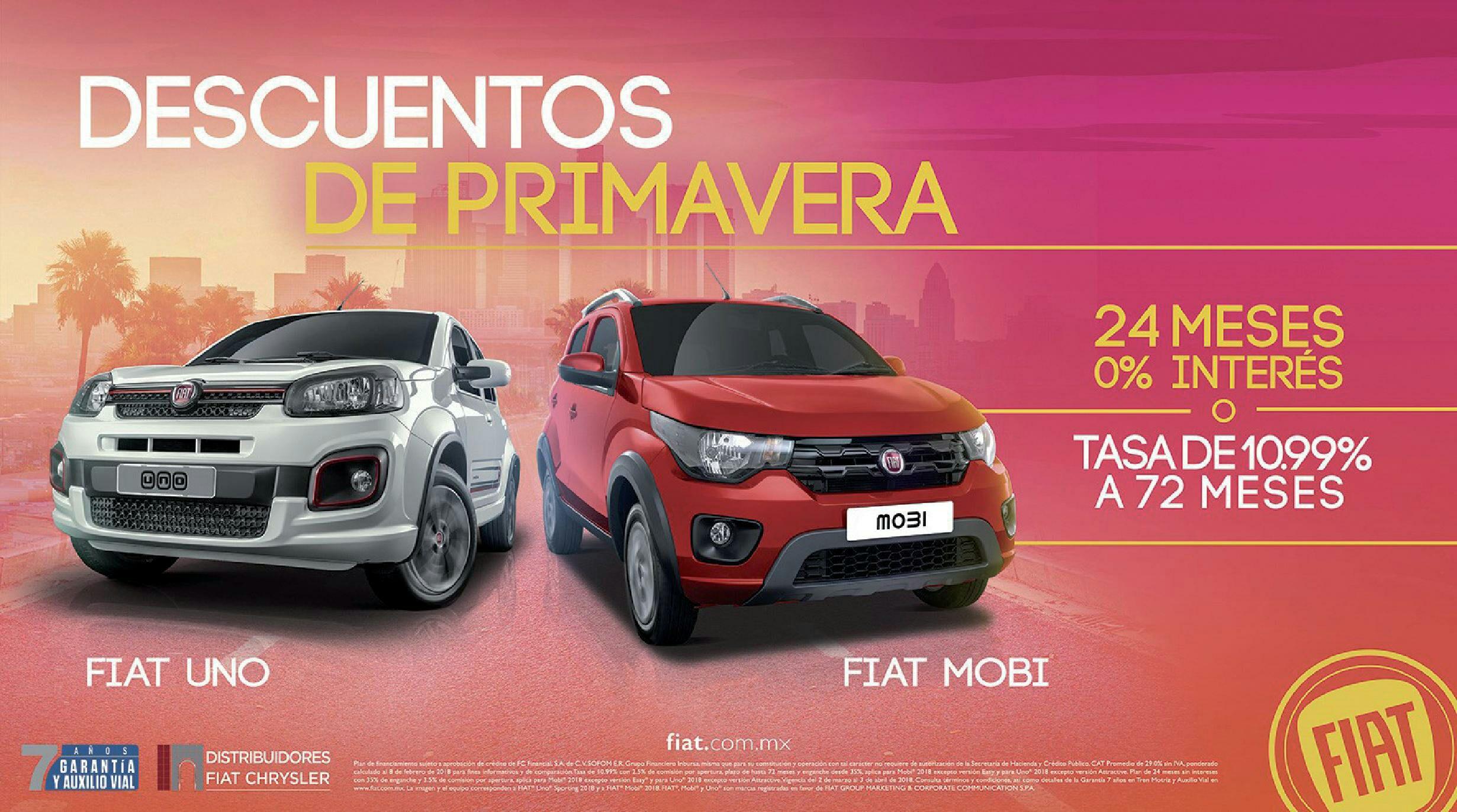 Fiat: Mobi enganche desde 10% o 24MSI