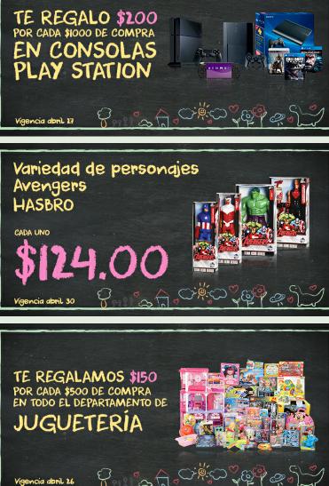 La Comer: $150 de descuento x cada $500 en juguetes y $200 x cada $1,000 PlayStation