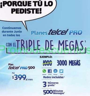 Telcel: Triple de MB en PLANES TELCEL PRO