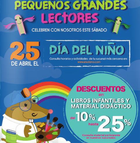 Librerías El Sótano: descuentos del 10 al 25% en libros infantiles y material didáctico