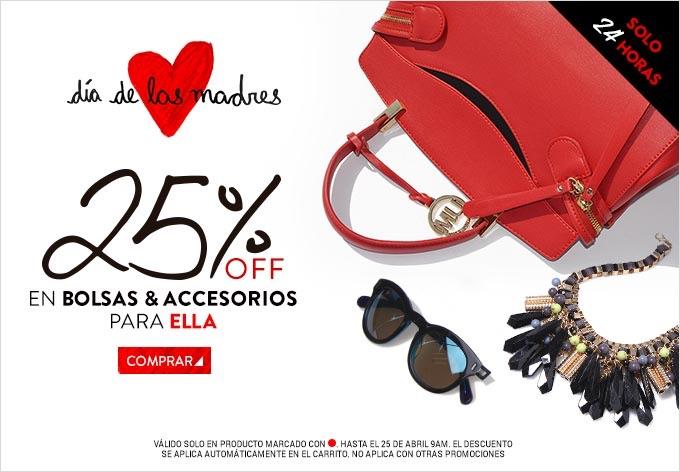 Dafiti: 25% de descuento + 15% adicional en bolsas y accesorios
