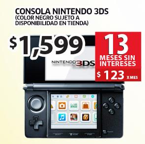Soriana: consola Nintendo 3DS $1,599
