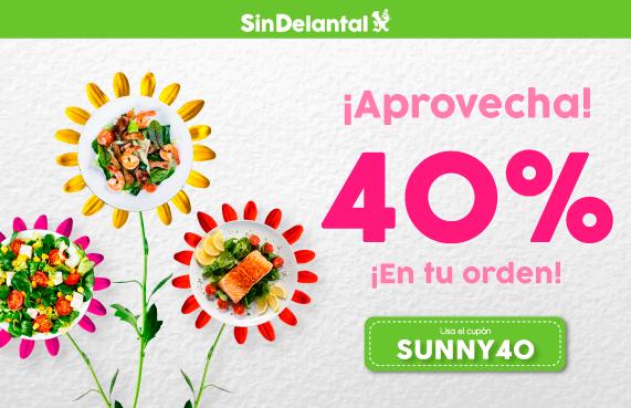 SinDelantal: Descuento 40% en pedidos de máximo $200