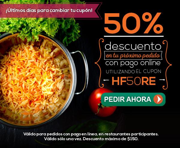 50% Descuento en Hellofood
