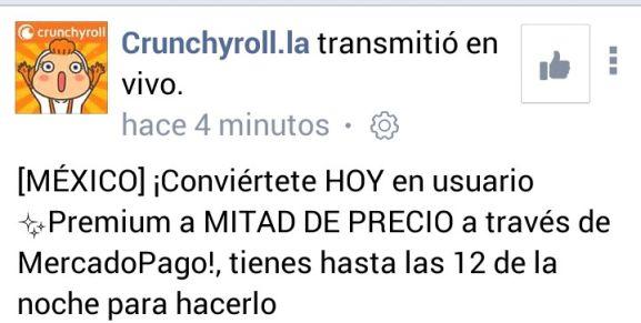 Crunchyroll: a mitad de precio