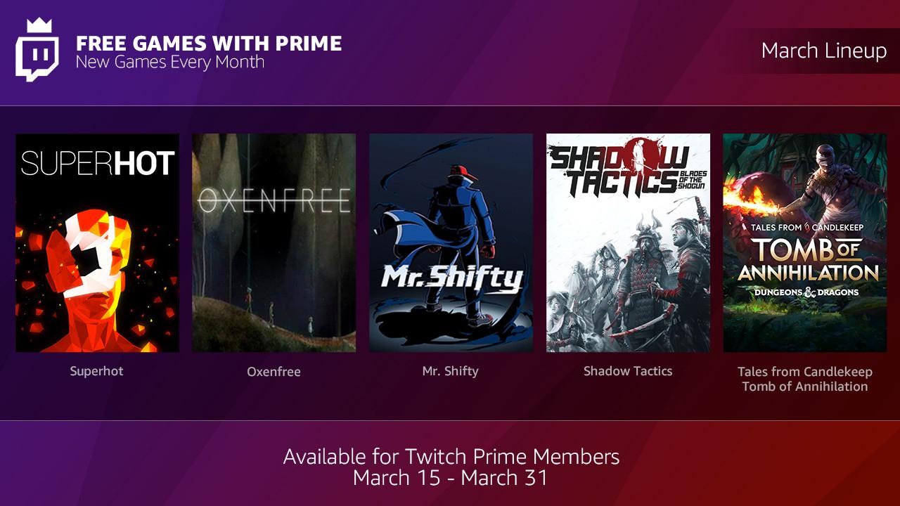 Amazon/Twitch: Games With Prime de Marzo y Abril