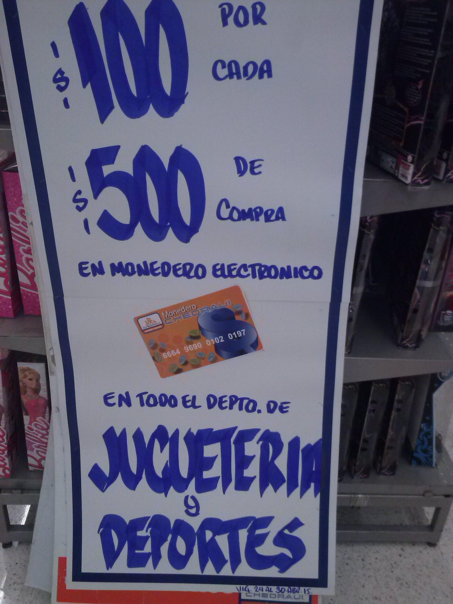 Chedraui: $100 de bonificación por cada $500 en Juguetería y Deportes