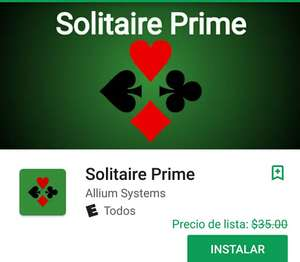 Play Store: Solitaire Prime