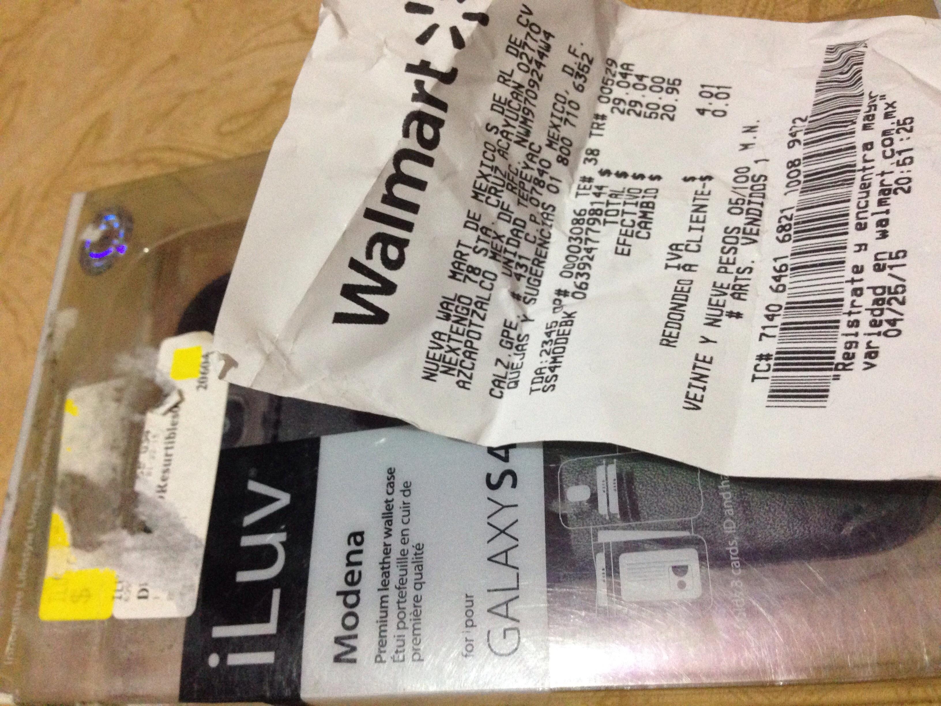 Walmart: funda para Samsung Galaxy S4 de piel a $29.04