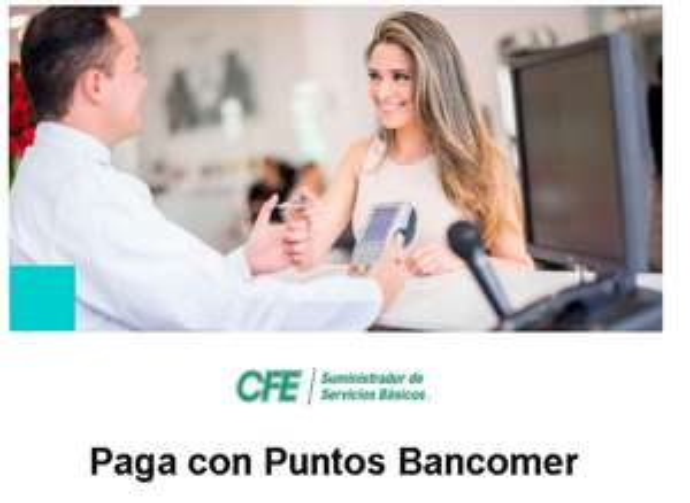 En CFE ya puedes pagar con Puntos Bancomer
