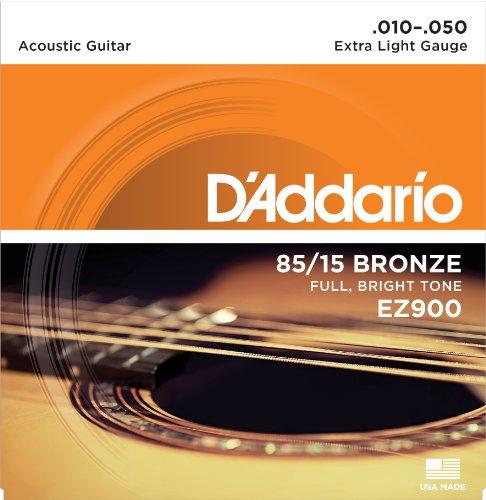 Amazon: Set de cuerdas para guitarra acústica D'Addario EZ900 (85/15 Bronze)