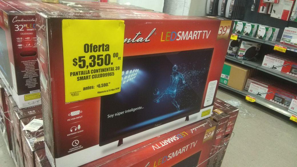 "Soriana Universitarios, Culiacan: Smart TV LED 39"" Continental -"