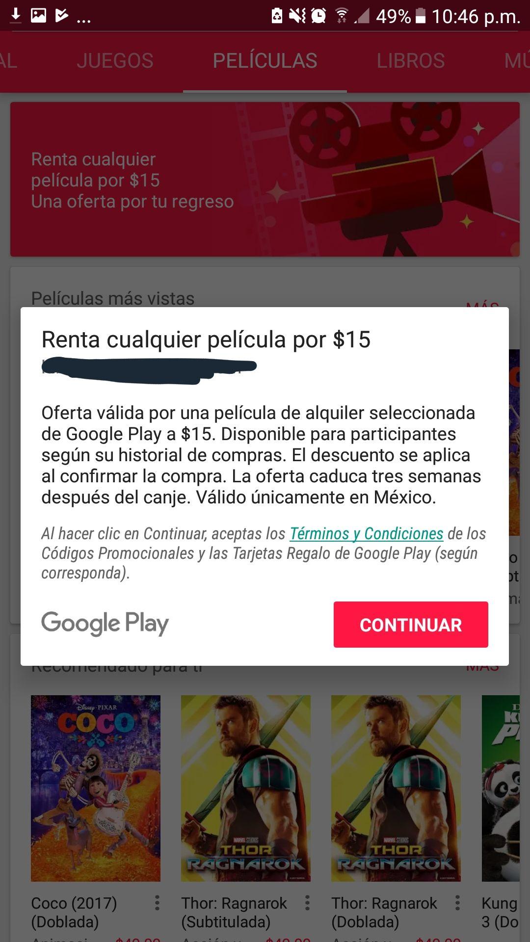 Google Play Movies: Renta a $15